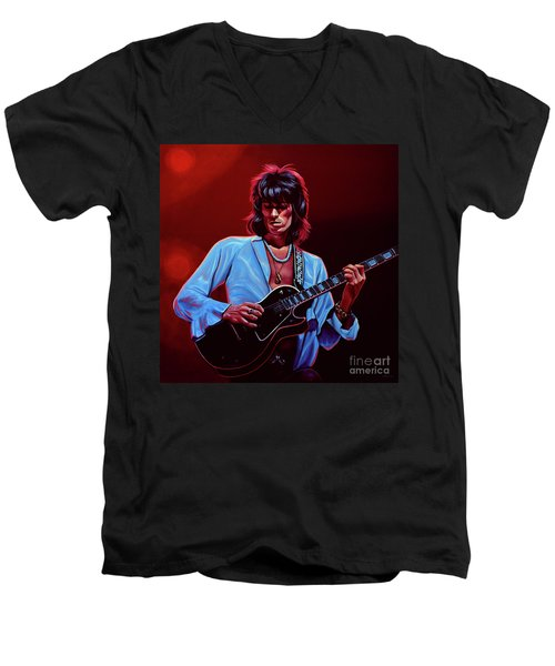 Keith Richards The Riffmaster Men's V-Neck T-Shirt