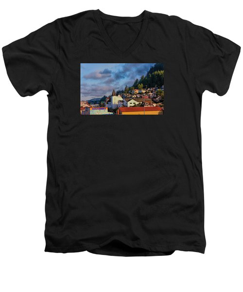Men's V-Neck T-Shirt featuring the photograph Ketchikan Morning by Lewis Mann