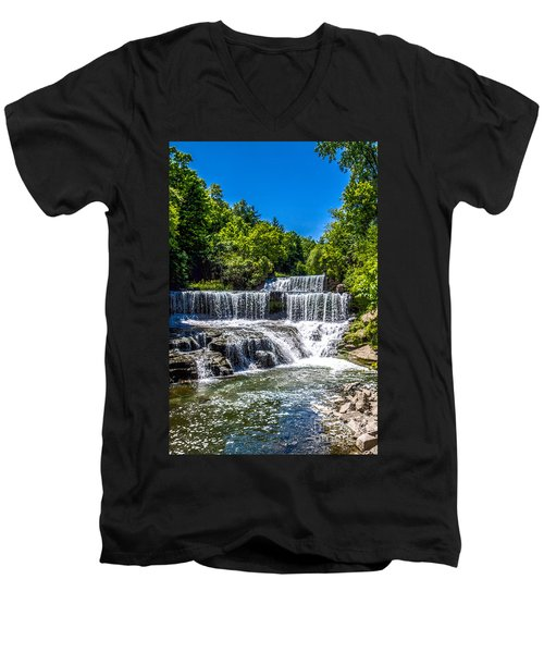 Keuka Outlet Waterfall Men's V-Neck T-Shirt