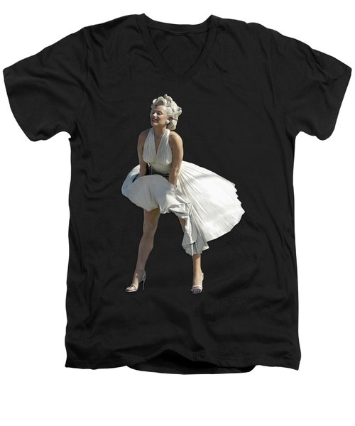 Key West Marilyn - Special Edition Men's V-Neck T-Shirt by Bob Slitzan