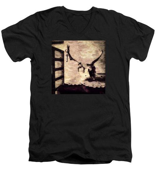 Keys To My Heart 2 Men's V-Neck T-Shirt by Ronda Broatch