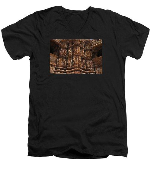 Khajuraho Temples 3 Men's V-Neck T-Shirt