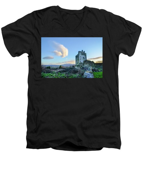 Kilcash Castle Ufo Men's V-Neck T-Shirt