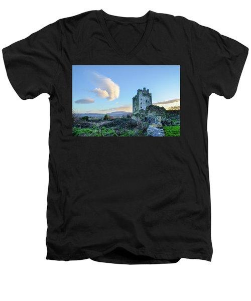 Kilcash Castle Ufo Men's V-Neck T-Shirt