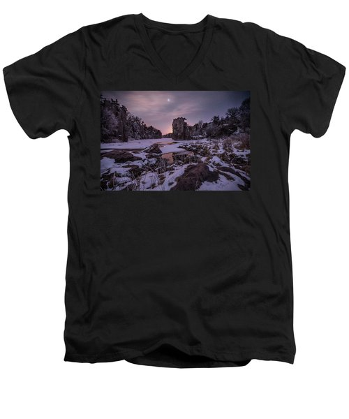 Men's V-Neck T-Shirt featuring the photograph King Of Frost by Aaron J Groen