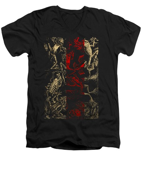 Kingdom Of The Golden Amphibians Men's V-Neck T-Shirt