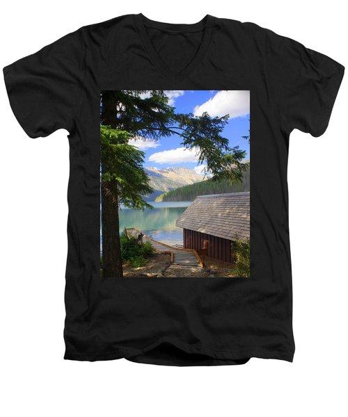 Kintla Lake Ranger Station Glacier National Park Men's V-Neck T-Shirt
