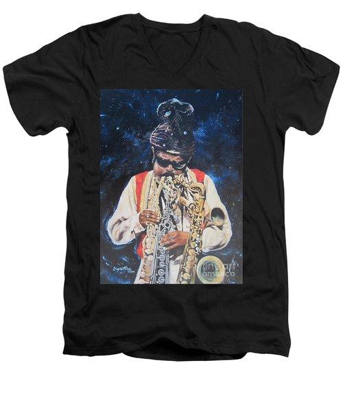 American History. .  Rahsaan  Roland Kirk  Men's V-Neck T-Shirt