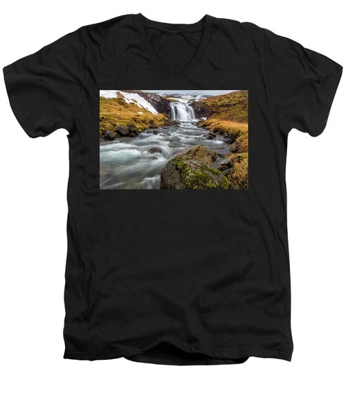 Kirkjufellsfoss Sibling  Men's V-Neck T-Shirt