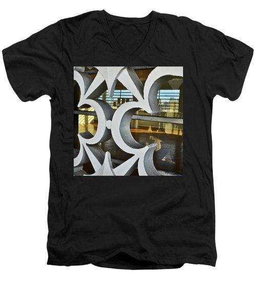 Kitsch Urban Details Men's V-Neck T-Shirt by Carlos Alkmin