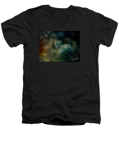Men's V-Neck T-Shirt featuring the photograph Kitty Art Rescue 1st Image  Please See Pg 2 By Sherriofpalmsprings by Sherri  Of Palm Springs