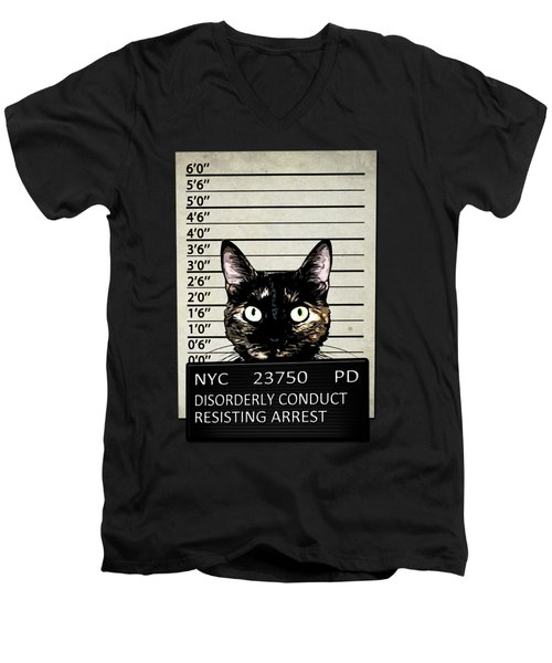 Kitty Mugshot Men's V-Neck T-Shirt
