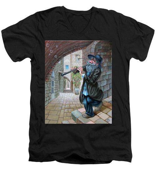 Klezmer Men's V-Neck T-Shirt