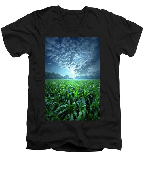 Men's V-Neck T-Shirt featuring the photograph Knee High by Phil Koch