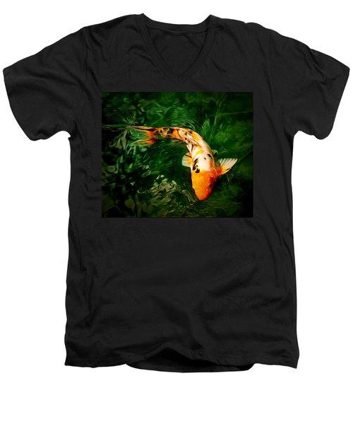 Koi Men's V-Neck T-Shirt by Anton Kalinichev