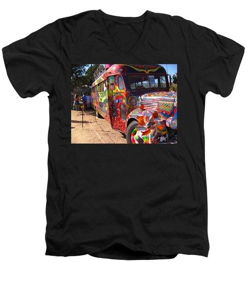 Kool Aid Acid Test Bus Men's V-Neck T-Shirt