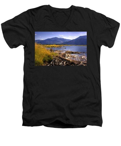 Kootenai Lake Bc Men's V-Neck T-Shirt