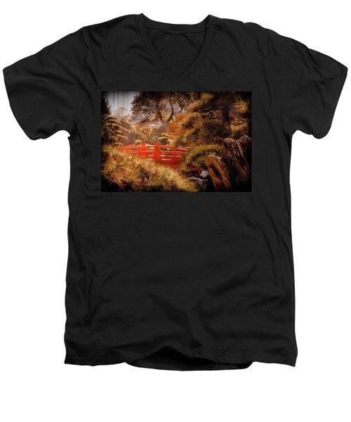 Kowloon - Red Bridge Men's V-Neck T-Shirt