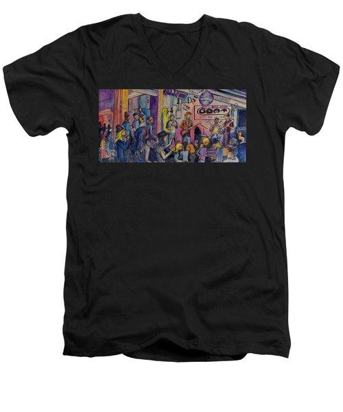 Kris Lager Band At The Goat Men's V-Neck T-Shirt