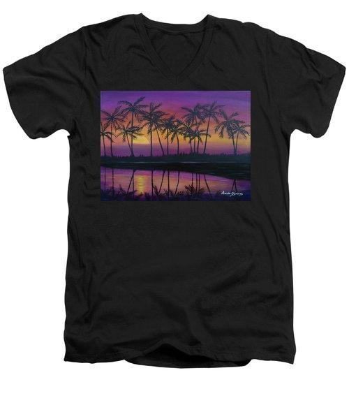 Kristine's Sunset Men's V-Neck T-Shirt