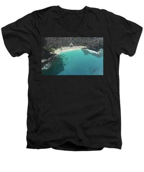 Kua Bay Aerial Men's V-Neck T-Shirt
