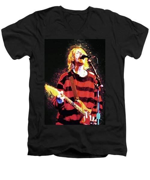 Kurt Cobain Men's V-Neck T-Shirt