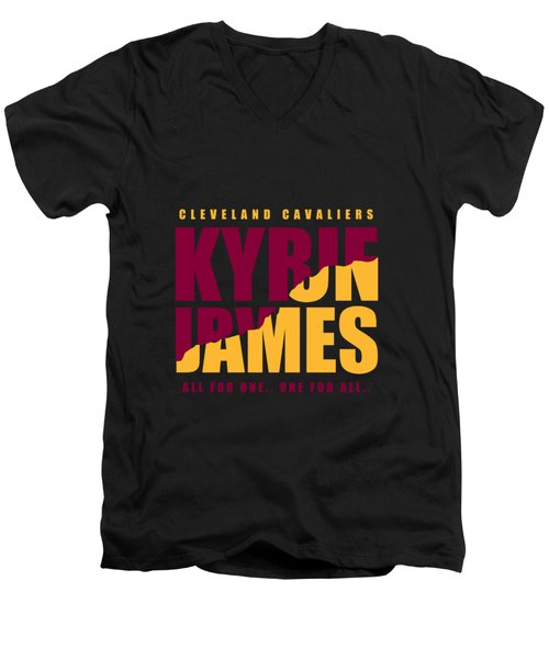 Kyriebron Men's V-Neck T-Shirt by Augen Baratbate