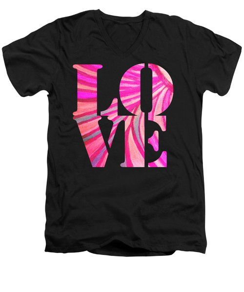 L O V E  Men's V-Neck T-Shirt