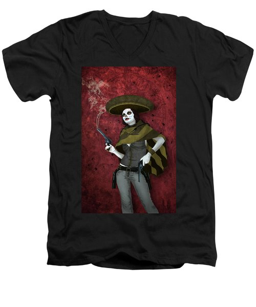 La Bandida Muerta Men's V-Neck T-Shirt