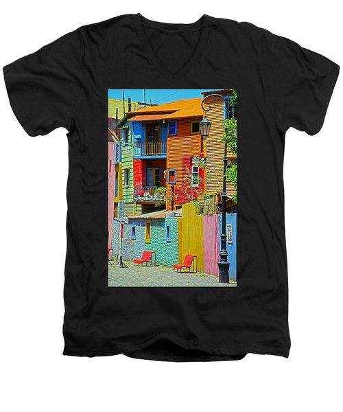 La Boca - Buenos Aires Men's V-Neck T-Shirt