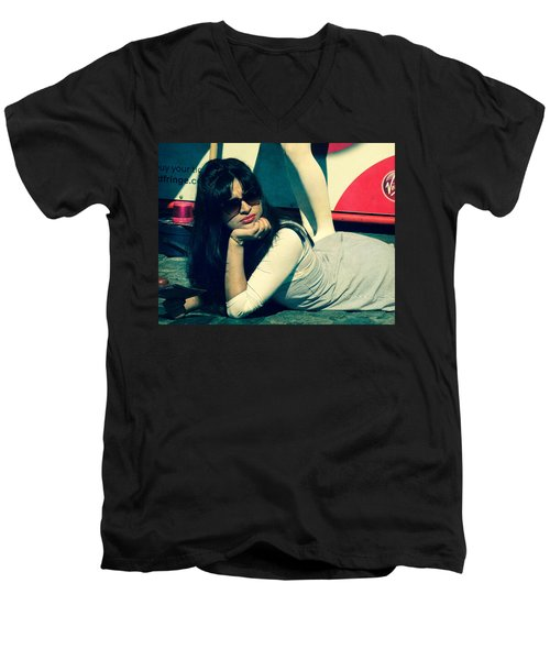 Men's V-Neck T-Shirt featuring the photograph La Dolce Vita  by Paul Lovering