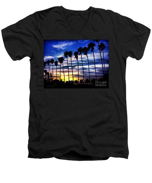 La Jolla Silhouette - Digital Painting Men's V-Neck T-Shirt