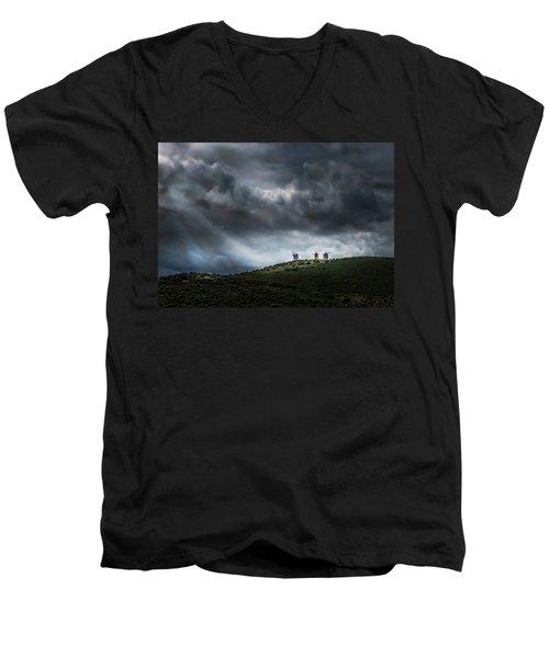 La Mancha Spain Men's V-Neck T-Shirt