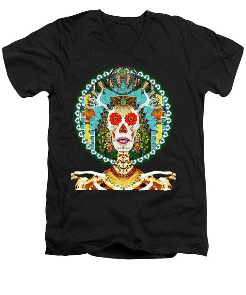 La Reina De Los Muertos Men's V-Neck T-Shirt