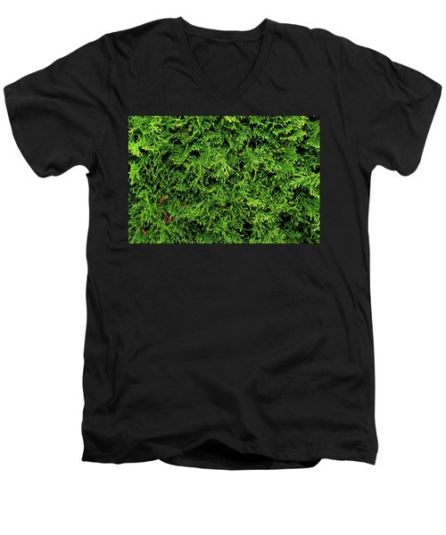 Men's V-Neck T-Shirt featuring the photograph Life In Green by Dorin Adrian Berbier