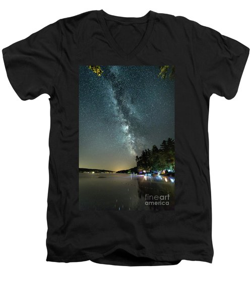 Labor Day Milky Way In Vacationland Men's V-Neck T-Shirt