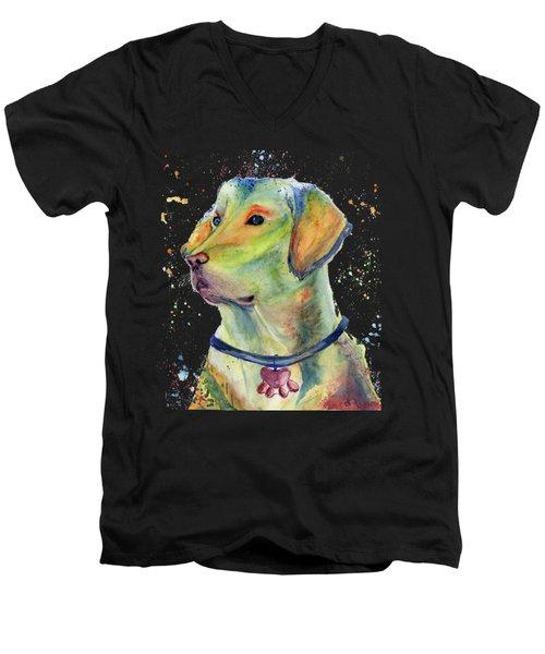 Labrador Retriever Art Men's V-Neck T-Shirt