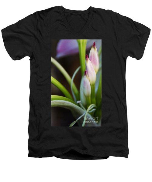 Laced In Satin Men's V-Neck T-Shirt