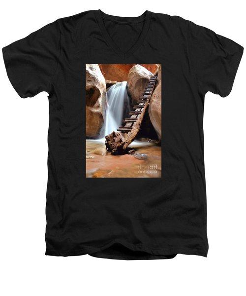 Ladder To Beyond Men's V-Neck T-Shirt