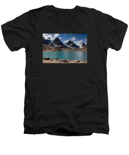 Laguna Chiar Khota In Condoriri Mountains Men's V-Neck T-Shirt