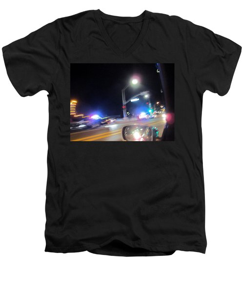 Laguna Night Men's V-Neck T-Shirt by Dan Twyman