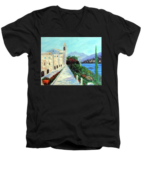 Lake Como Colors  Men's V-Neck T-Shirt