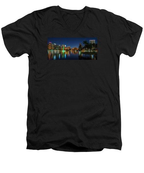 Lake Eola Orlando Men's V-Neck T-Shirt
