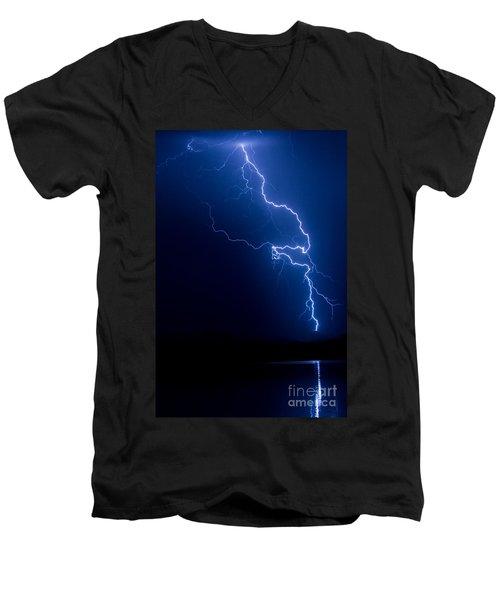 Lake Lightning Strike Men's V-Neck T-Shirt