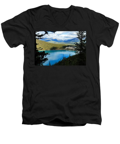 Lake Louise Chalet Men's V-Neck T-Shirt
