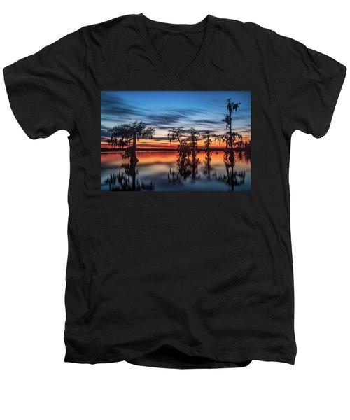 Lake Martin Sunset Men's V-Neck T-Shirt