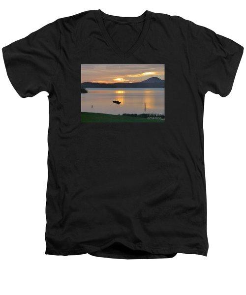 Lake Quinault Sunset - 2 Men's V-Neck T-Shirt