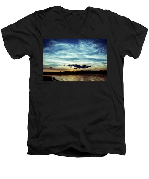 Lake Sunset Men's V-Neck T-Shirt by Scott Meyer