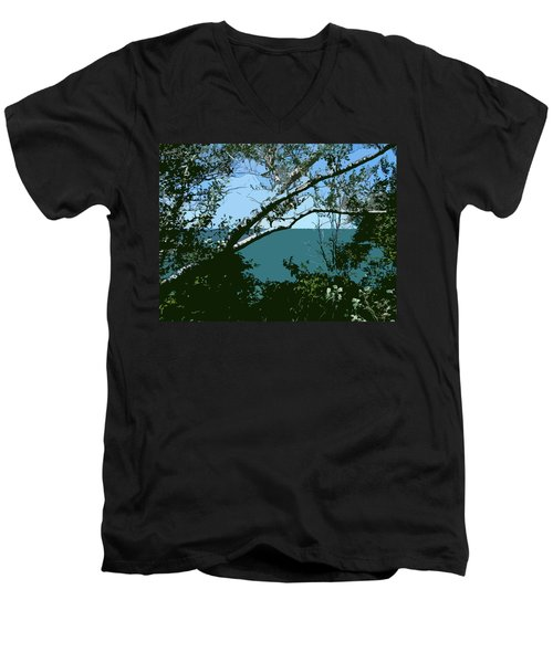 Lake Through The Trees Men's V-Neck T-Shirt