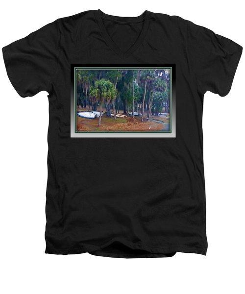 Lake Wauburg Rain Men's V-Neck T-Shirt
